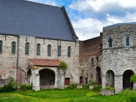 The ruined abbey of St Bavo